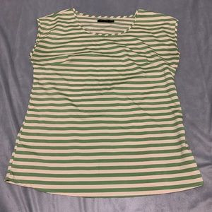 The Limited Green Tan Shell Blouse EUC Size M